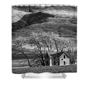 Abandoned Two-story Farmhouse - P Road Nw - Waterville - Washington - May 2013 Shower Curtain