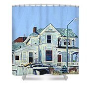 Abandoned Victorian In Oakland  Shower Curtain