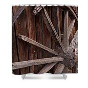 Abandoned Wagon Wheel Shower Curtain
