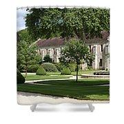 Abbey Fontenay Burgundy Shower Curtain
