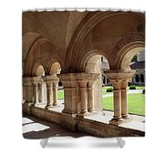 Abbey Fontenay - Cloister Vault  Shower Curtain
