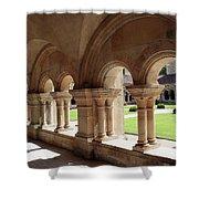 Abbey Fontenay - Cloister Vault  Shower Curtain