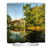 Abbey Lake Autumn Shower Curtain