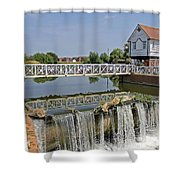 Abbey Mill And Weir Shower Curtain