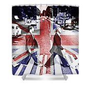 Abbey Road Union Jack Shower Curtain