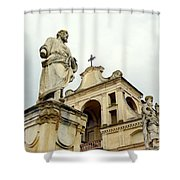 Abbey Statues Shower Curtain
