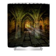 Abbey Sunlight Shower Curtain by Adrian Evans
