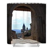 Abbey Through Doorway - Cluny Shower Curtain