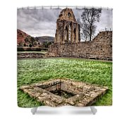 Abbey Well Shower Curtain