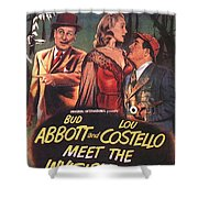 Abbott And Costello Meet The Invisible Man  Shower Curtain