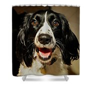 Abby's Sweet Smiling Face Shower Curtain