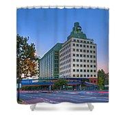 Abc American Broadcasting Company Burbank Ca Shower Curtain