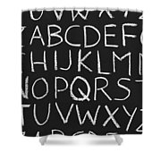 Abc On A Chalkboard Shower Curtain