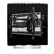 Abe Lincoln In Black And White Shower Curtain