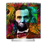 Abe The Broham Lincoln 20140217 Shower Curtain
