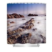 Aberffraw Fog Shower Curtain