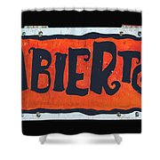 Abierto Shower Curtain