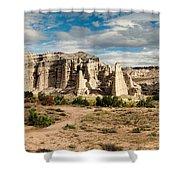 Abiquiu New Mexico Plaza Blanca In Technicolor Shower Curtain