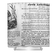 Abolition Meeting, 1837 Shower Curtain