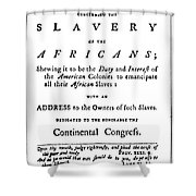Abolitionist Tract, 1776 Shower Curtain