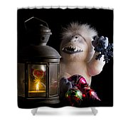 Abominable Christmas Shower Curtain