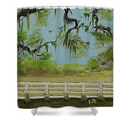 About To Rain Shower Curtain