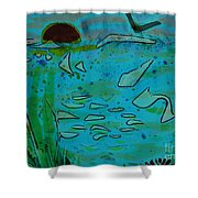 Above And Beneath The Sea Shower Curtain
