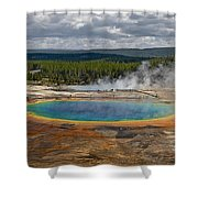 Above Grand Prismatic Shower Curtain