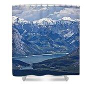 Above Lake Minnewanka #2 Shower Curtain