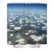 Above The Clouds II Shower Curtain