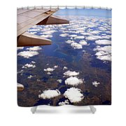 Above The Clouds IIi Shower Curtain