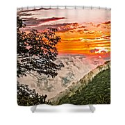 Above The Clouds - Paint Shower Curtain