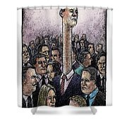 Above The Crowd Shower Curtain
