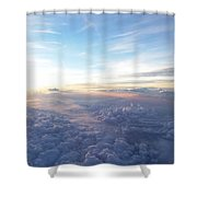 Above The Earth Shower Curtain