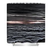 Above The Marine Layer V2 Shower Curtain