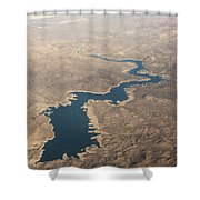 Above The Rocky River Shower Curtain