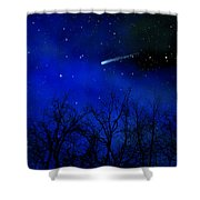 Above The Treetops Wall Mural Shower Curtain
