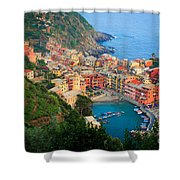 Above Vernazza Shower Curtain by Inge Johnsson
