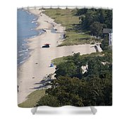 Above View Of Empires Beach Shower Curtain