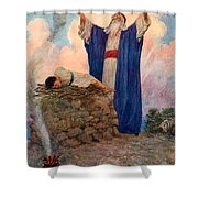 Abraham And Isaac On Mount Moriah Shower Curtain