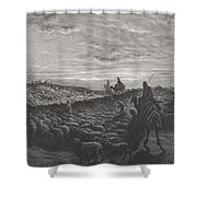 Abraham Journeying Into The Land Of Canaan Shower Curtain