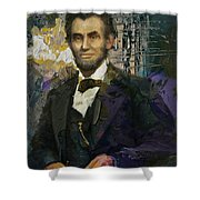 Abraham Lincoln 07 Shower Curtain by Corporate Art Task Force