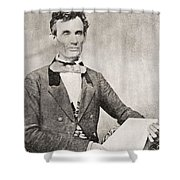 Abraham Lincoln, 1809 – 1865, Seen Here In 1854.  16th President Of The United States Of America Shower Curtain
