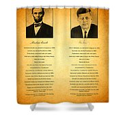 Abraham Lincoln And John F Kennedy Presidential Similarities And Coincidences Conspiracy Theory Fun Shower Curtain