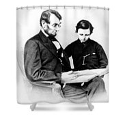 Abraham Lincoln And Tad Shower Curtain