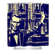 Abraham Lincoln At Gettysburg Shower Curtain