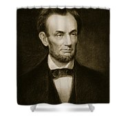 Abraham Lincoln Shower Curtain by Francis Bicknell Carpenter