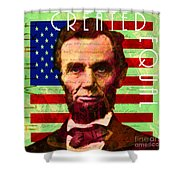Abraham Lincoln Gettysburg Address All Men Are Created Equal 20140211p68 Shower Curtain