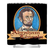 Abraham Lincoln Graphic Shower Curtain by John Keaton