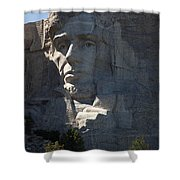 Abraham Lincoln Mount Rushmore National Monument Shower Curtain